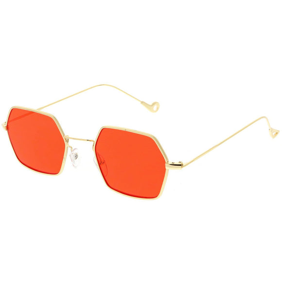 Hexagon Colored Metal Sunglasses