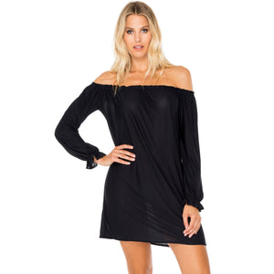 Cuff Bell Sleeve Dress