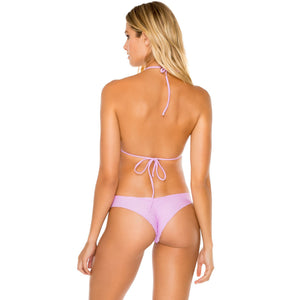 Wavey Ruched Back Brazilian Bottom