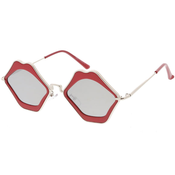 Mirrored Lip Lens Sunglasses
