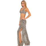 Split Side Wide Leg Pant