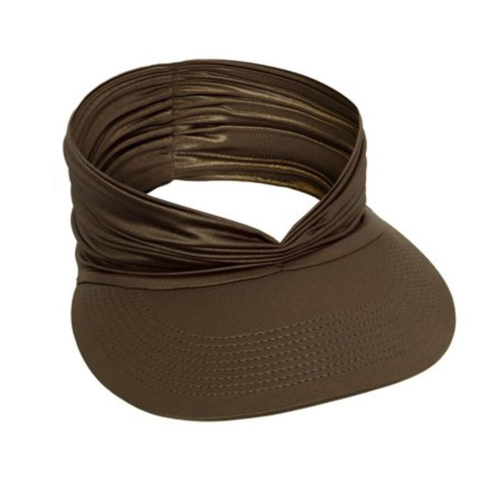Gold Brown Retro Visor Hat
