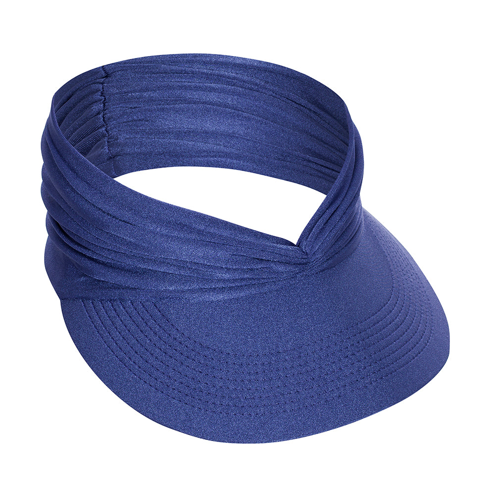 Blue Retro Visor Hat