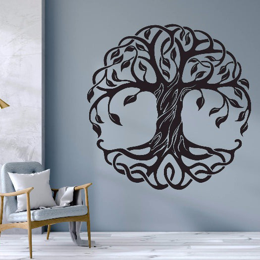sticker mural arbre de vie world of indra. Black Bedroom Furniture Sets. Home Design Ideas