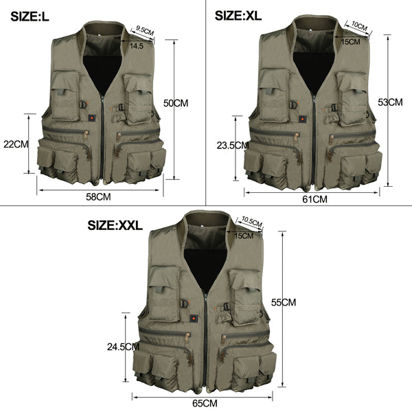 Fly Fishing Mesh Vest Quick Drying Mutil-Pocket Outdoor Fishing Hiking Vest