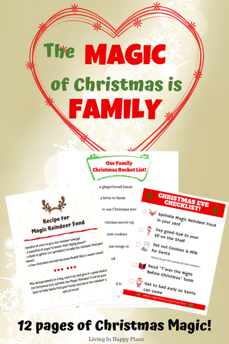 The Magic of Christmas is Family - Printables pack!