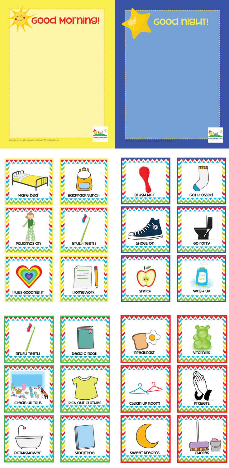 Routine Cards for Kids (and Mom!)