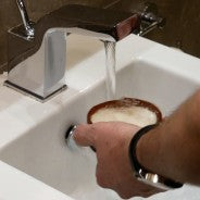 Goap shave soap lather 2