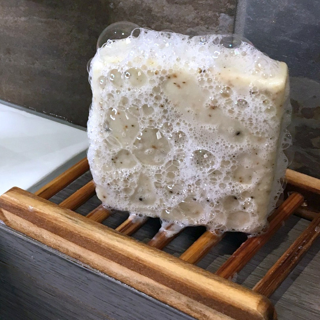 Goap on a soap rack