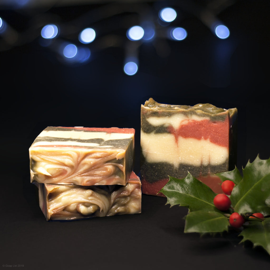 Festive Goat soap from Goap