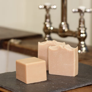 Flowery Goat Soap from Goap at a sink