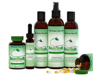 Crush Leaf's BeanStalk Shampoo System-Vitamin & Oil Set