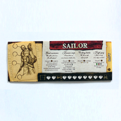 Robinson Crusoe - Sailor + Stickers & Pawns