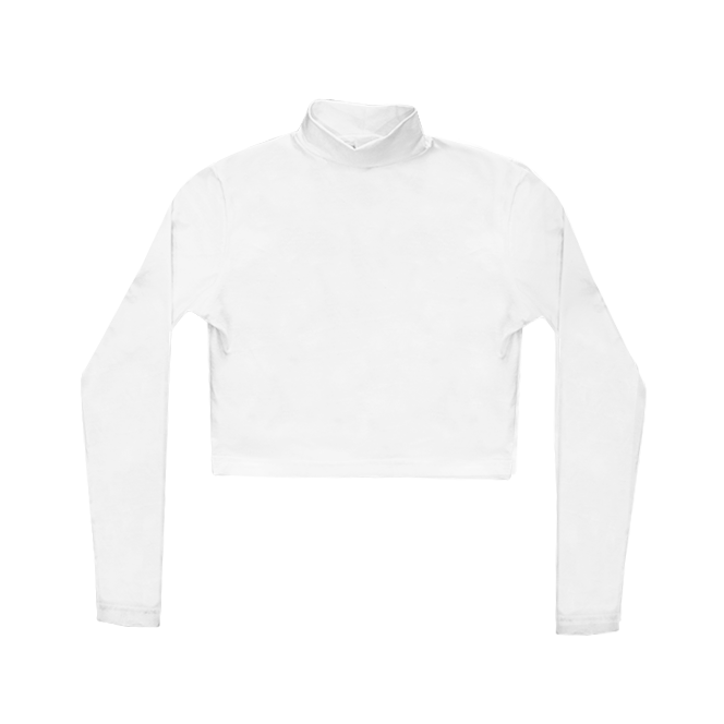 Mock Neck Crop Long Sleeve