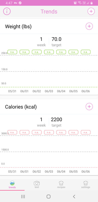 Keto Strips + Diet Tracker App | 100 Strips