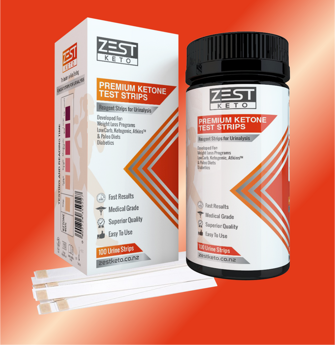 Keto tester strips. Ketone test strips for urine testing. Keto urinalysis tester strips. Pee strips for keto testing. Packet of 100 ketone test strips. Ketostix . Test ketone levels when on a keto diet plan or after having keto recipes. Test ketosis levels when on a low carb diet. Keto strips by Zest Keto.