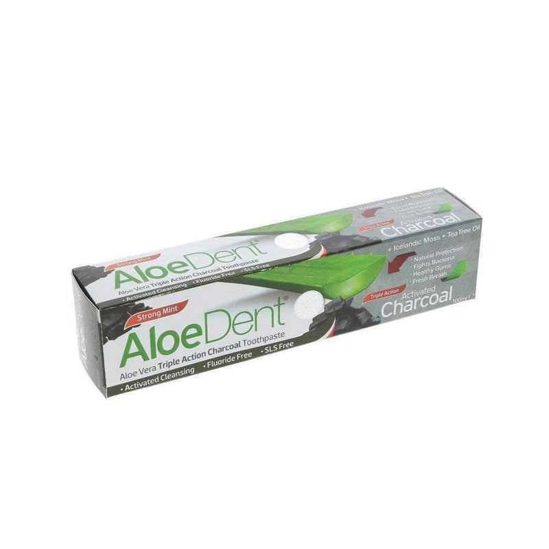 Aloe Dent Aloe Vera Charcoal Toothpaste (100ml) - Live Well
