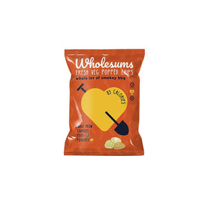 Wholesums Whole Lot of Smokey BBQ Veg Popped Chips - 80g Bag