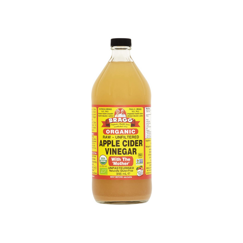 Braggs Apple Cider Vinegar ACV Organic Raw Unfiltered With The Mother Gluten Free (946ml)