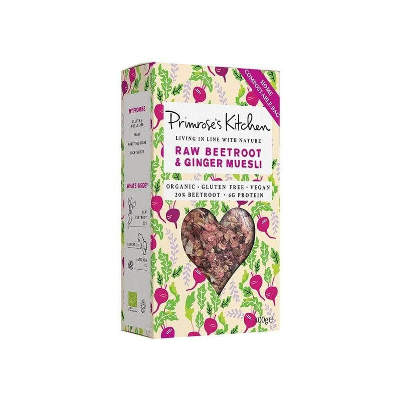 Primrose Raw Beetroot and Ginger Muesli (400g) - Live Well