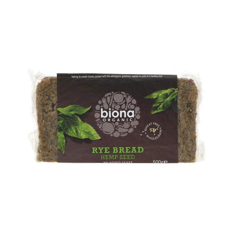 Biona Hemp Seed Rye Bread (500g) - Live Well