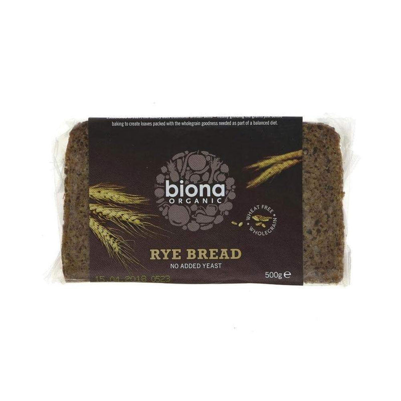 Biona Wholegrain Rye Bread (500g) - Live Well