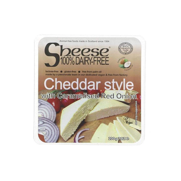 Bute Island Cheddar Style Caramelised Onion Cheese (200g)