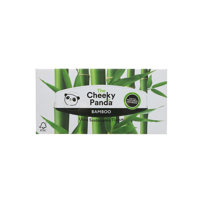 Cheeky Panda Bamboo Facial Tissue Box - 80 Sheets