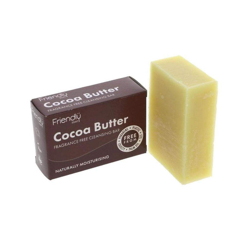 Friendly Soap Cocoa Butter Cleansing Bar (95g) - Live Well