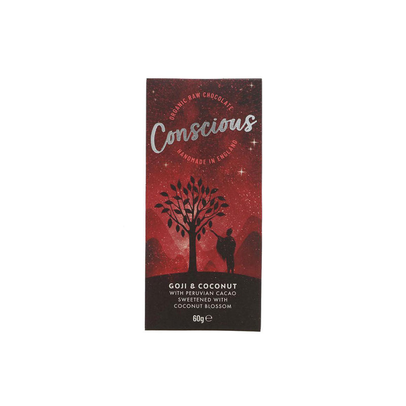 Conscious Chocolate Goji and Coconut Raw Bar (60g)