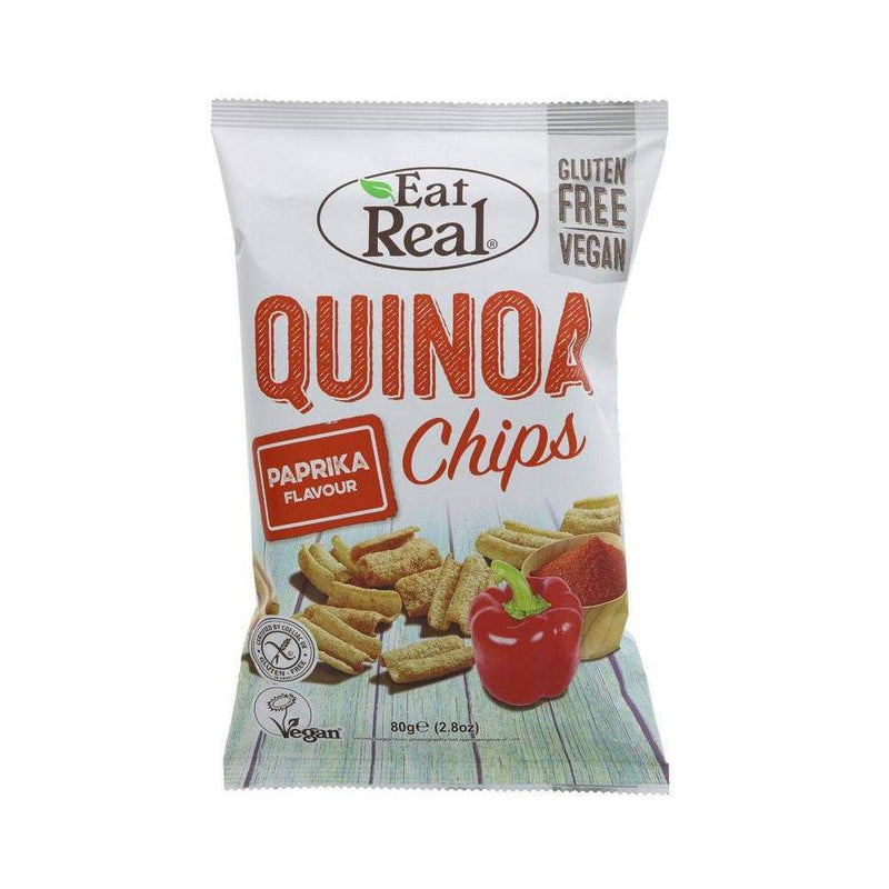 Eat Real Quinoa Paprika Chips (80g) - Live Well
