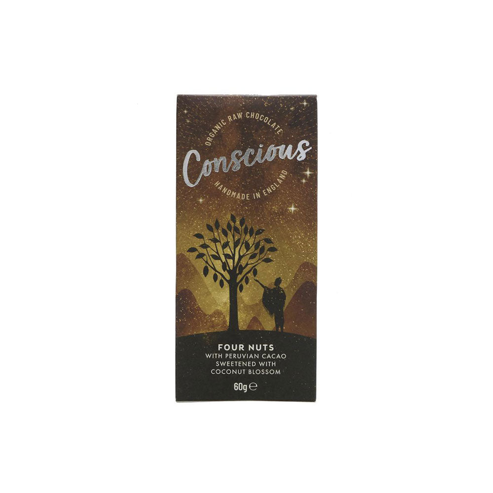 Conscious Chocolate Four Nuts Raw Bar (60g)