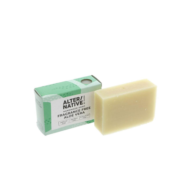 Alternative by Suma Fragrance Free Aloe Vera Soap (95g)