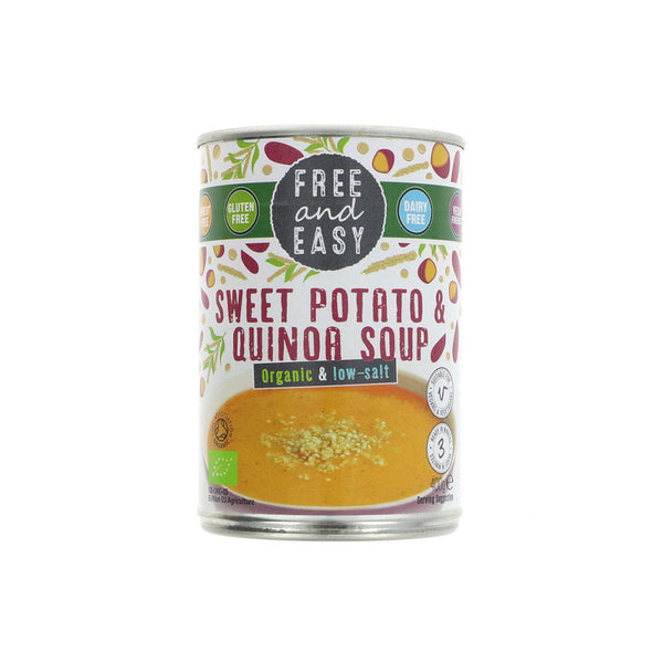 Free and Easy Organic Sweet Potato and Quinoa Soup (400g)