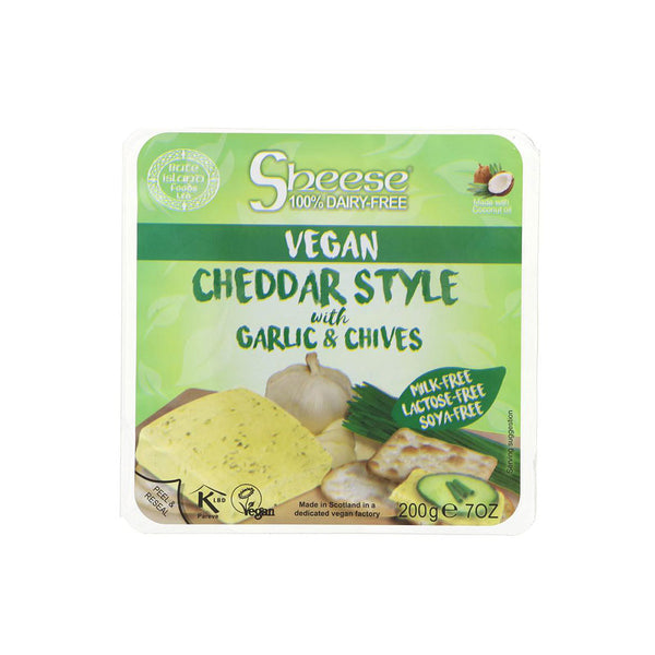 Garlic and Chive Cheddar Style Cheese (255g)