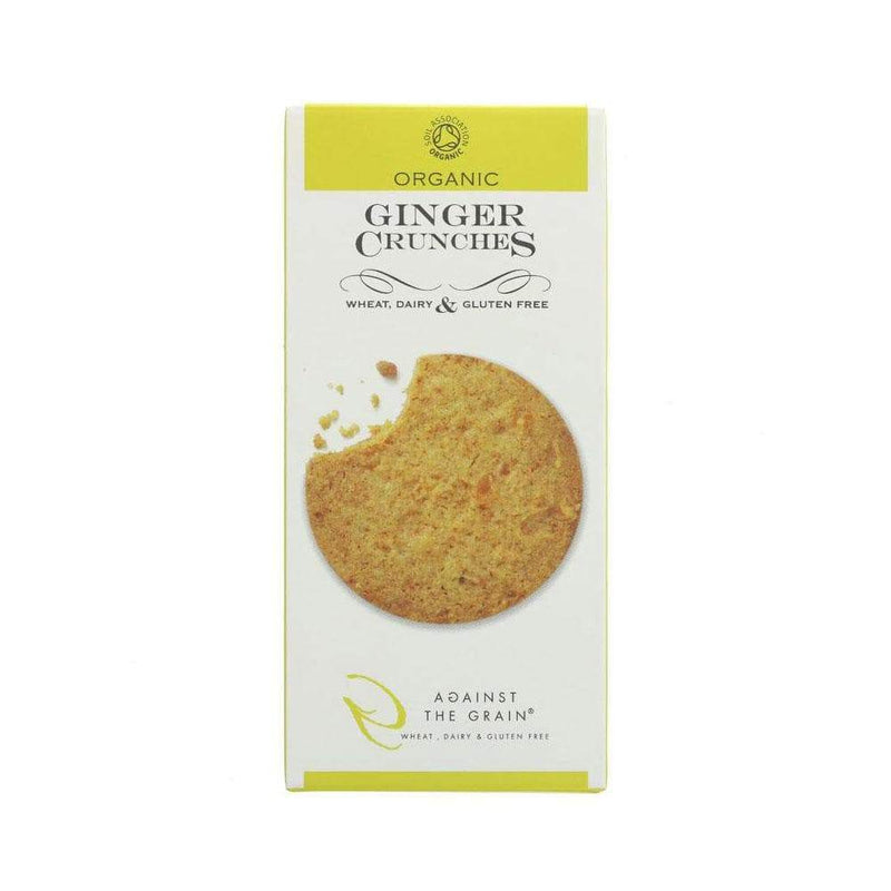 Against The Grain Organic Ginger Crunches Cookies (150g) - Live Well