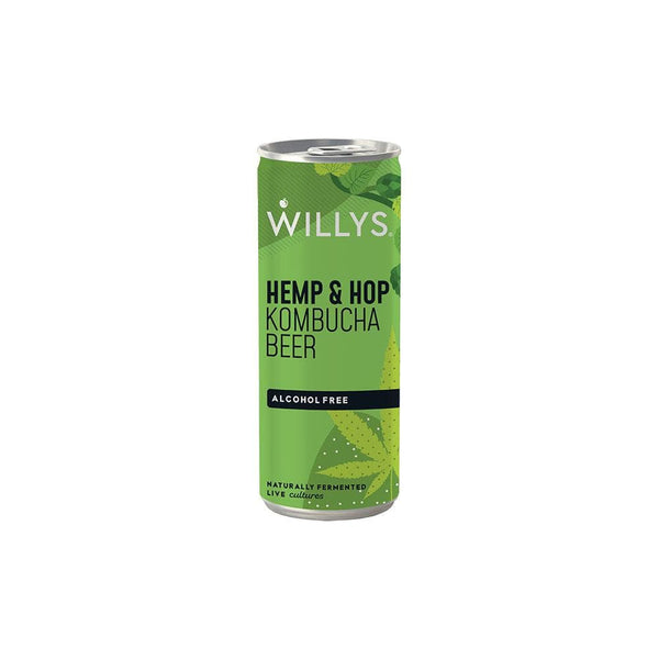 Willy's Hemp and Hop Kombucha Beer (Non-Alcoholic 250ml)