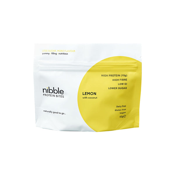 Nibble Lemon Protein Bites with Coconut (42g)