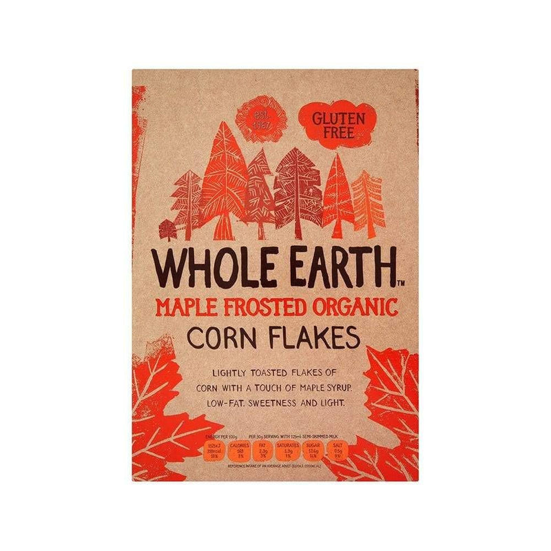 Whole Earth Organic Maple Frosted Corn Flakes (375g) - Live Well
