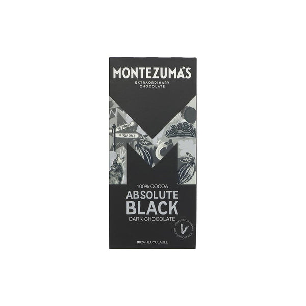 Montezumas Absolute Black 100% Cocoa Bar