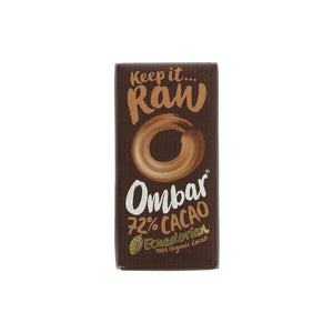 Ombar Organic Dark 72% Raw Chocolate (35g)