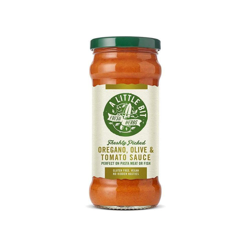 A Little Bit Food Co. Oregano, Olive and Tomato Pasta Sauce (325g) - Live Well