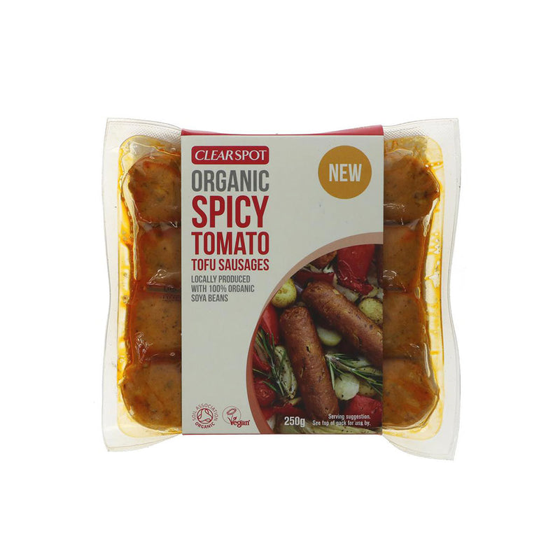 Clearspring Organic Spicy Tomato Tofu Sausages