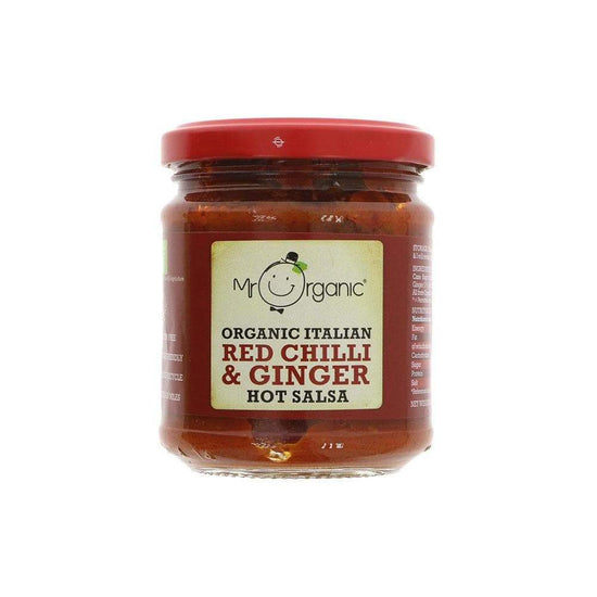 Organic Red Chill and Ginger Hot Salsa,Salsa,Mr Organic