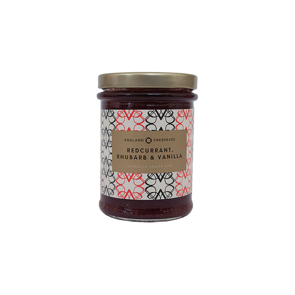 England Preserves Redcurrant Rhubarb and Vanilla Jam (212ml)