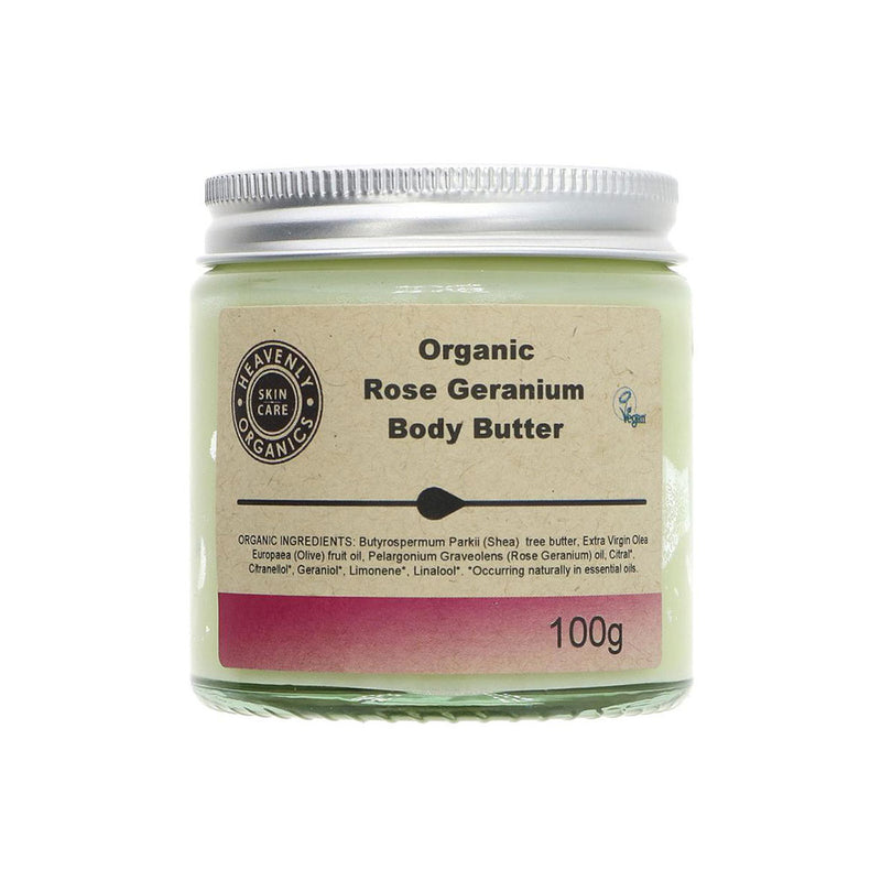 Heavenly Organics Rose & Geranium Body Butter (100g)
