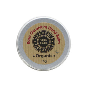 Heavenly Organics Rose & Geranium Hand Balm (15g)