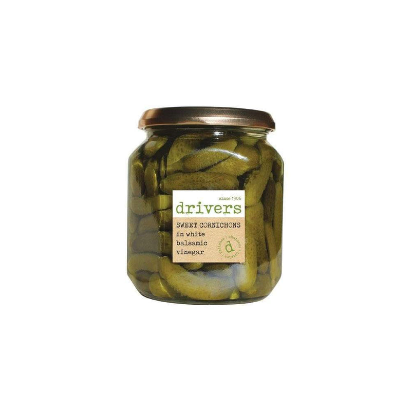 Drivers Sweet Cornichons In White Balsamic Vinegar (550g) - Live Well