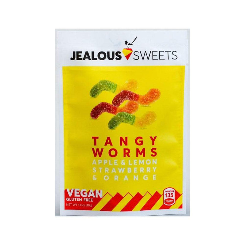 Jealous Sweets Tangy Worms Sweets (40g) - Live Well