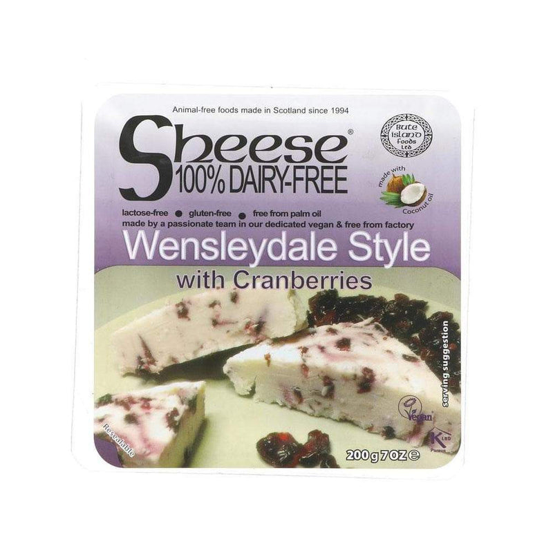 Bute Island Wensleydale Style with Cranberries Cheese (200g) - Live Well